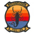 USMC HSL-49 Scorpions Helicopter Anti-Submarine Squadron Light Military Patch