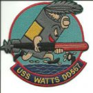 US Navy DD-567 USS Watts Fletcher-Class Destroyer Patch