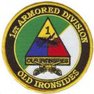 US Army 1st Armored Division with Crossed Sabres Patch