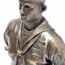 US Navy Crackerjack Sailer Bronze Statue