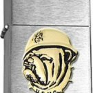 USMC United States Marine Corps Bulldog Brushed Chrome  Lighter