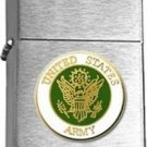Brushed Chrome United States Army Insignia Star Lighter