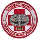 US Army Combat Medic Operation Iraqi Freedom Veteran Patch