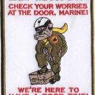 USMC Lucky The Dog Says Patch