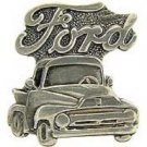 Ford Pewter Pick Up Truck Emblem Pin Pinback
