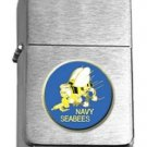 Brushed Chrome US Navy Seabees Insignia Star Lighter