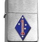 Brushed Chrome 1st Marine Division Guadalcanal Star Lighter