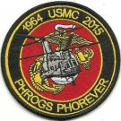 USMC PHROGS PHOREVER CH-46 Sea Knight Helicopter 1964----2015 Patch