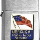 Brushed Chrome America Is #1 Thanks To Our Veterans Star Lighter