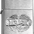 Brushed Chrome Army Combat Medical Badge Star Lighter - BRIGHT NICKEL