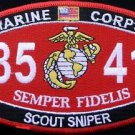 USMC Military MOS Scout Sniper Patch