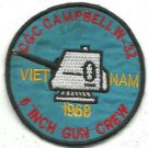 USCGC George W. Campbell W-32 5 Inch Crew Vietnam War Patch