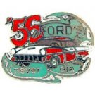 Ford 1956 Never Die Red & White Car Emblem Pin Pinback