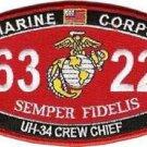 USMC UH-34 Crew Chief MOS 6322 Patch