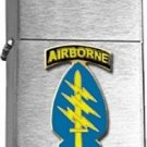 US Army Airborne Special Forces Brushed Chrome Lighter
