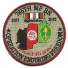 US Army 785th MP Battalion  Operation Enduring Freedom Patch