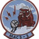 USMC MACS-3 Marine Air Control Squadron Patch