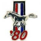 Ford Mustang Logo 1980 Pin