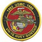 USMC UH-1E Huey Gunship 1963-1986 Patch