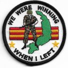 USMC We Were Winning When I Left Military Patch