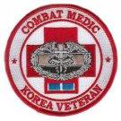 US Army Combat Medic Korea Veteran Patch