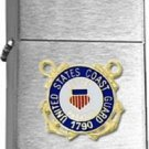Brushed Chrome United States Coast Guard 1790 Insignia Star Lighter