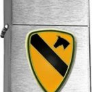 US Army 1st Cavalary Division Brushed Chrome Lighter