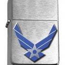 Brushed Chrome United States Air Force Symbol Star Lighter