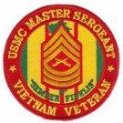 USMC Master Sergeant Vietnam Veteran Patch