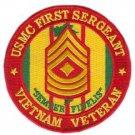 USMC First Sergeant Vietnam Veteran Patch