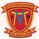 USMC 2nd Battalion 26th Marines NOMADS Patch