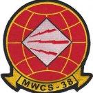 USMC MWCS 38 Marine Wing Communications Squadron Patch