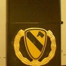 Polished Chrome US Army 1st Cavalry Division Emblem Black Lighter