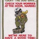 USMC Marine Corps Bull Dog Luck The Dog Says Patch