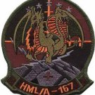 USMC HMLA-167 Marine Light Attack Helicopter Squadron Military Patch