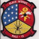USMC MALS-13 Black Widow Aviation Logistic Squad Patch