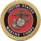 USMC Patch with Gold Trim