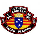 US Army 1st Battalion 52nd Infantry Luthers Animals Recon Platoon Patch