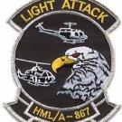 USMC HMLA-867 Marine Light Attack Helicopter Squadron Patch