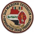 USMC 2nd Marine Division Operation Iraqi Freedom Patch