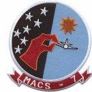 USMC MACS-7 Marine Air Control Squadron Patch