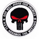 US Army Punisher Skull God Will Judge Our Enemies Patch