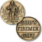 God Sent Me  Firemen God's Gift Challenge Coin