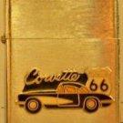 Chevrolet Corvette Route 66 Black Car Emblem Win Proof Crome Lighter