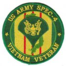 US Army Spec 4 Vietnam Veteran Patch
