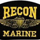US Marine Recon Insignia Black Hat Patch