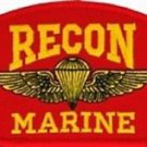US Marine Recon Insignia Red Hat Patch