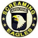 """US Army 101ST Airborne Car Grill Badge 3"""""""