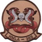 USMC HMLA-369 Marine Light Attack Helicopter Squadron Gunfighters Military Patch