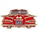 Chevy 1959 Rear Red Car Emblem Pin Pinback